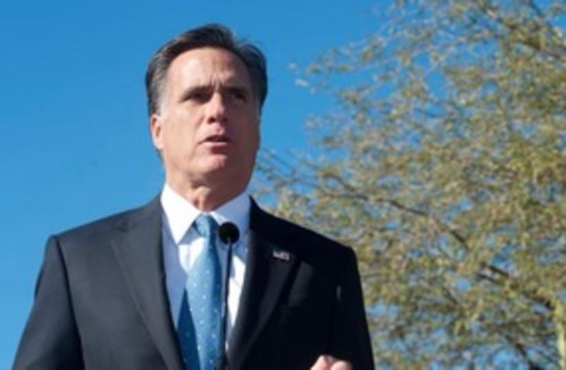 Republican presidential candidate Mitt Romney 311 (R) (photo credit: REUTERS/Laura Segall)