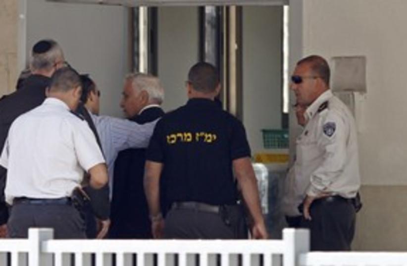 Katsav enters Massiyahu prison_311 (photo credit: Reuters)