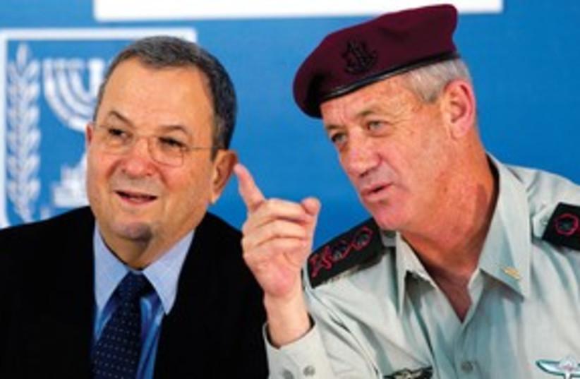 Gantz and Barak 311 R (photo credit: Reuters)