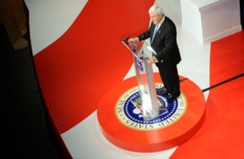 Gingrich 311 (photo credit: REUTERS)