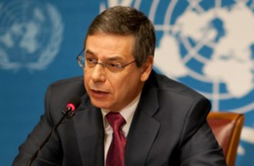 Deputy Foreign Minister Danny Ayalon at UNHCR 150 (photo credit: Courtesy of the Foreign Minister's Office)