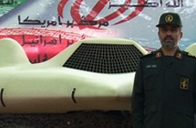 Hajizadeh and downed US drone_311 (photo credit: FARS)
