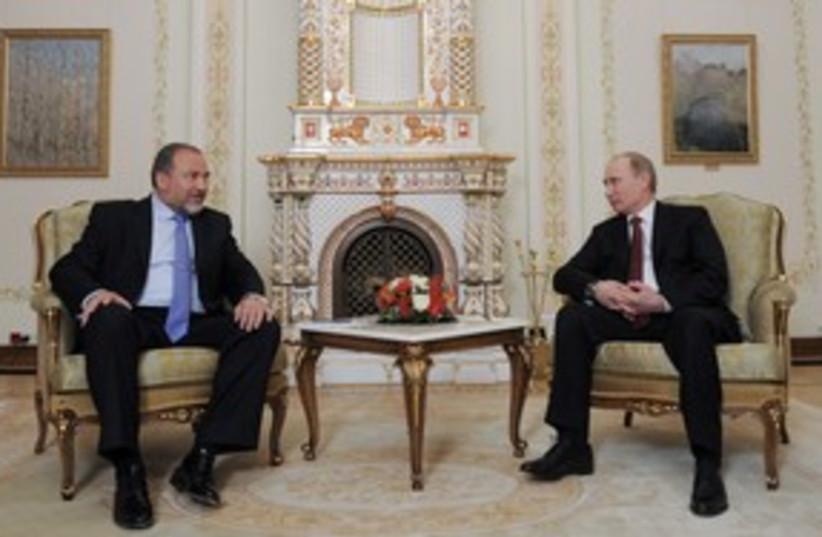 Lieberman Putin 311 R (photo credit: REUTERS/Alexsey Druginyn)