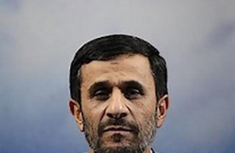Iranian President Mahmoud Ahmadinejad speaks to the press.  Photo: AP (photo credit: AP)