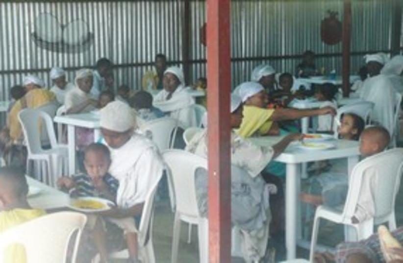 Ethiopians at Jewish Agency feeding center 311 (photo credit: ruth eglash)