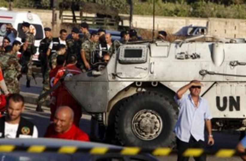 UNIFIL 311 R (photo credit: REUTERS/Ali Hashisho)