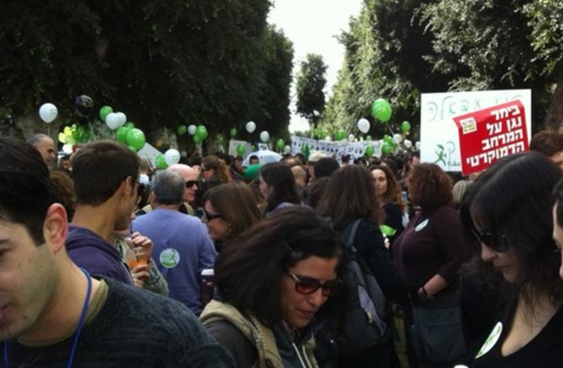 Tel Aviv Human Rights March (photo credit: Moshe Rafaeli)