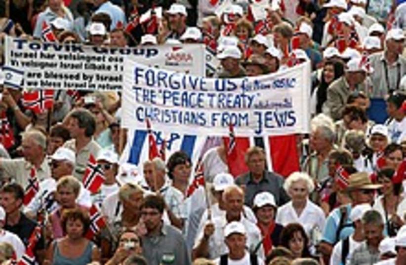 christian solidarity  (photo credit: Ariel Jerozolimski [file])
