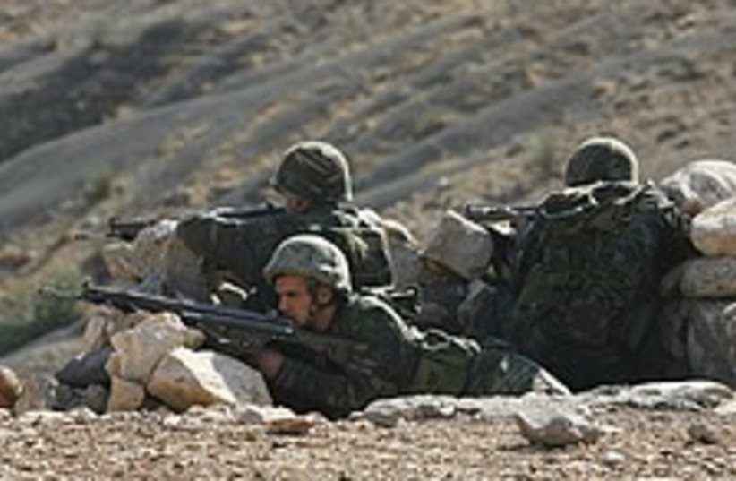 Turkish troops aim 224.8 (photo credit: AP)