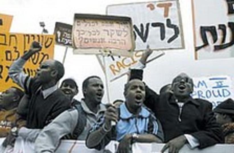 ethiopian protest 224.88 (photo credit: Ariel Jerozolimski)