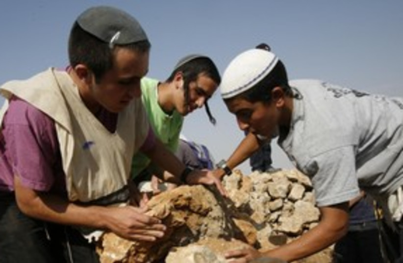 Hilltop Youth setters West Bank 311 (R) (photo credit: REUTERS/Gil Cohen Magen)
