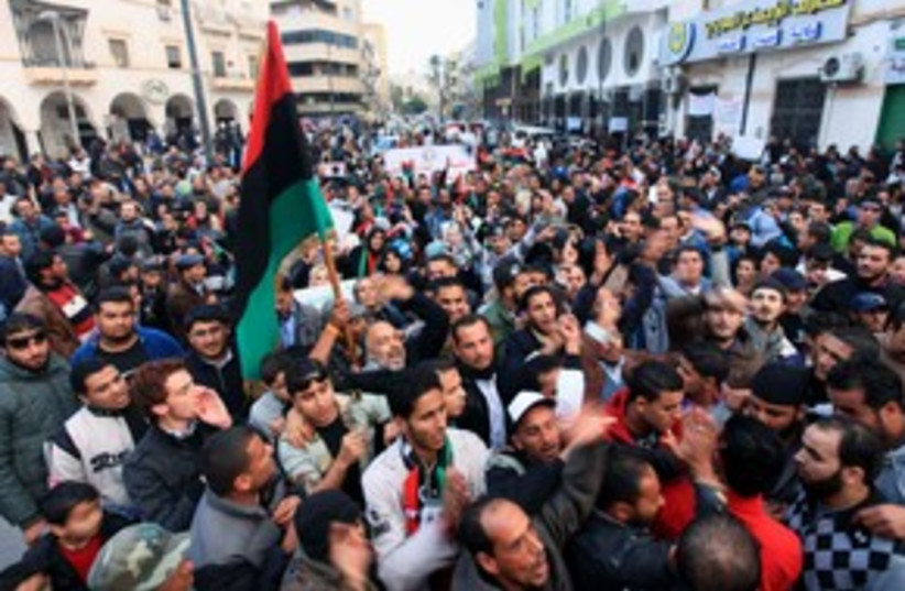 Libyans protest against NTC in Benghazi (R) 311 (photo credit: REUTERS/Esam Al-Fetori )