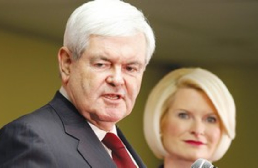 Newt Gingrich 311 (R) (photo credit: REUTERS)