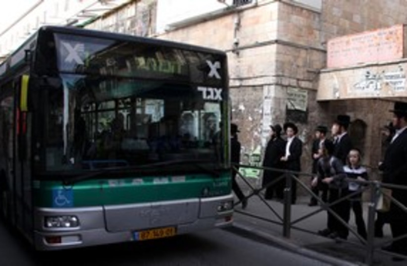 haredi bus 'mehadrim bus' _311 (photo credit: Marc Israel Sellem)