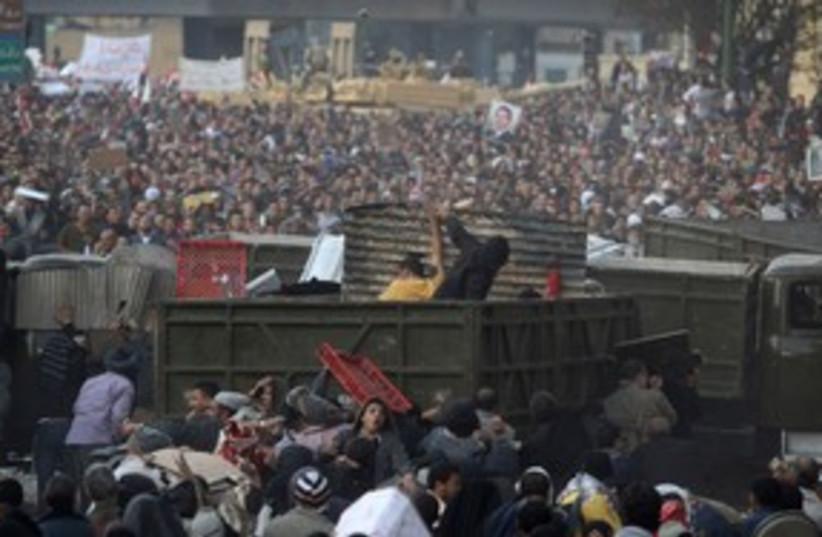 Clashes in Tahrir Square, Feb 2011 311 (R) (photo credit: REUTERS/Suhaib Salem )