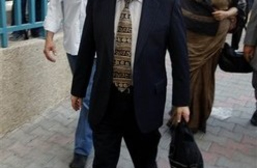 UN investigator Richard Goldstone arrives for a meeting at the Hamas Health Ministry, in Gaza City. (photo credit: AP)