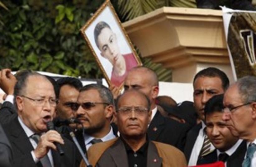 Tunisia Pres Marzouki marks Arab Spring, Sidi Bouzid_311 (photo credit: Reuters/Zoubeir Souissi)
