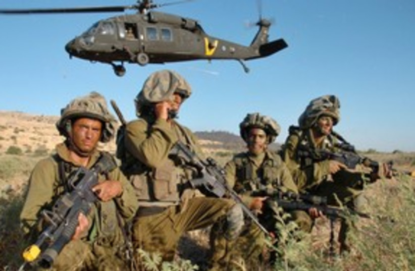 IDF special forces troops in training exercise 311 (R) (photo credit: Reuters Photographer / Reuters)