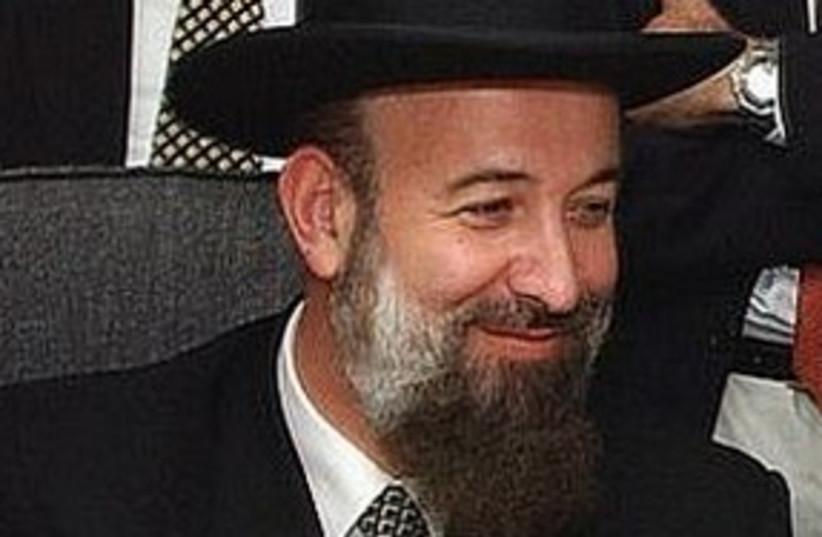 Chief Rabbi Yona Metzger 311 (photo credit: Ariel Jerozolimski [file])