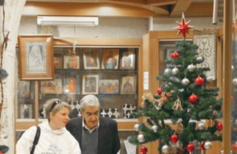 Christian shopkeeper in Jerusalem 311 (photo credit: Marc Israel Sellem)