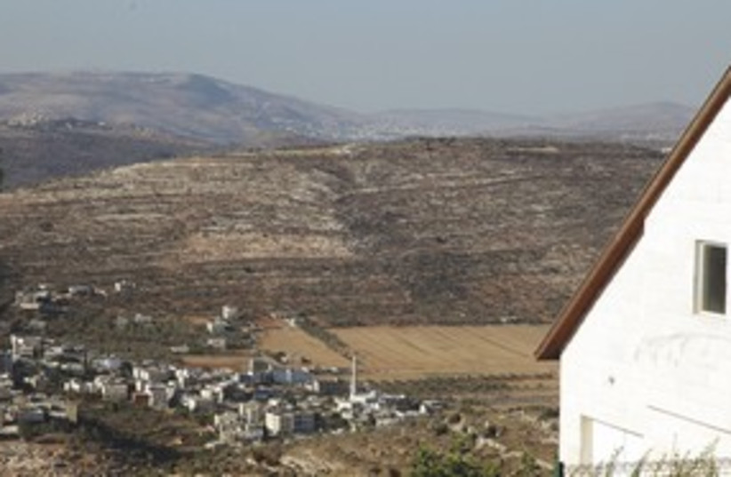 Ma'aleh Levona overlooks Luban in W. Bank 311 (photo credit: Marc Israel Sellem)