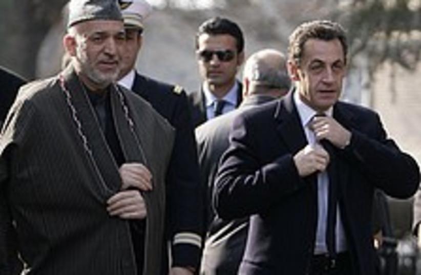 Sarkozy Afghanistan 224. (photo credit: AP)