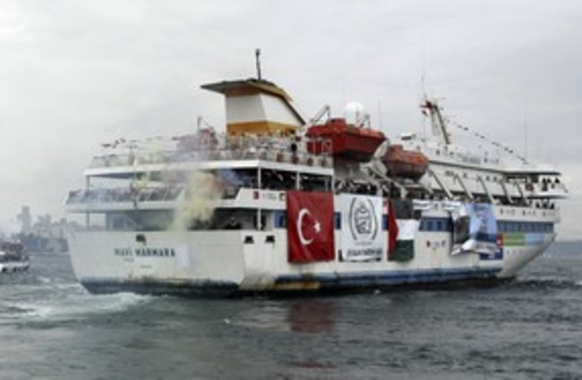 Mavi Marmara 311 (photo credit: Stringer Turkey / Reuters)