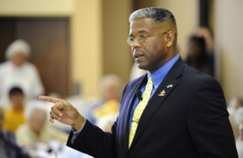 US Republican representative Allen West 311 (R) (photo credit: DOUG MURRAY / Reuters)