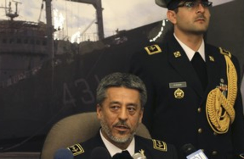 Habibulah, Iran navy commander 311 (photo credit: REUTERS/Khaled Al Hariri)