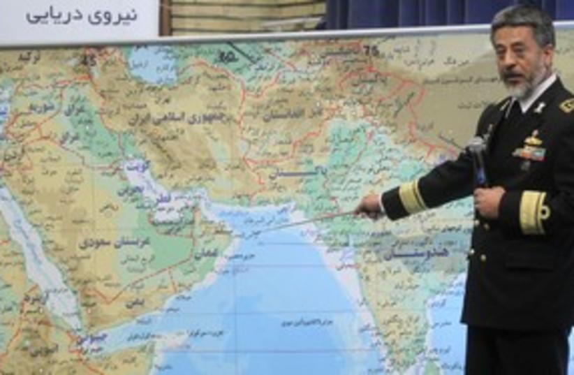 Iran's navy commander Sayari 311 R (photo credit: REUTERS/Fars News)
