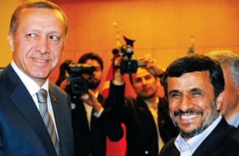 Ahmadinejad and Erdogan 311 (photo credit: REUTERS)