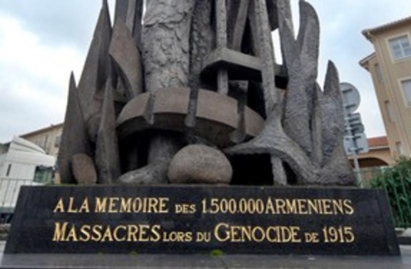 Armenian genocide memorial in Lyon, France 311 (R) (photo credit: REUTERS/Robert Pratta)