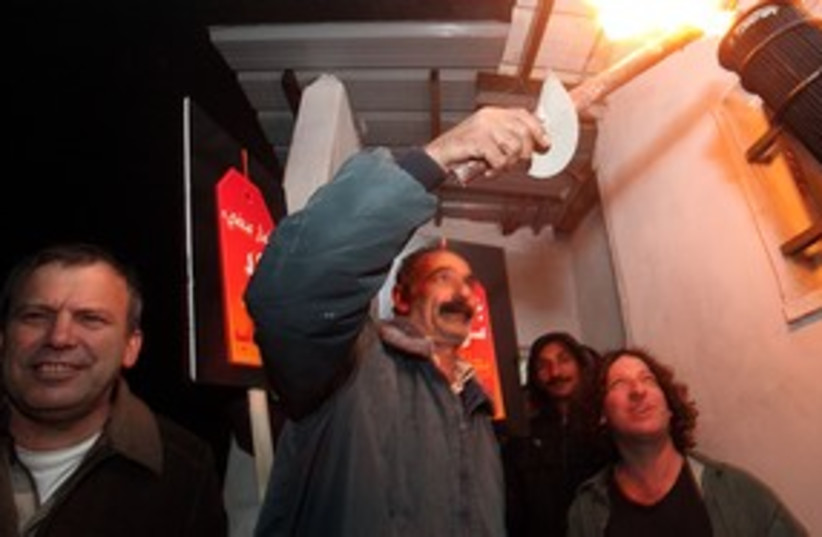 Palestinians, settlers light bright tag torch 311 (photo credit: Courtesy of 'Tag Meir')