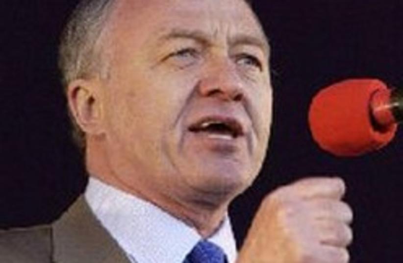 Former London mayor 'Red Ken' Livingstone (photo credit: AP)