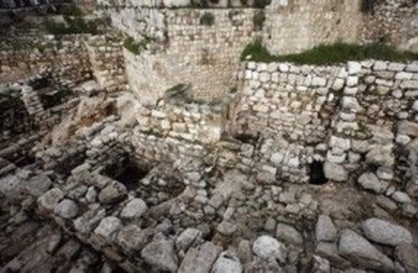 City of David Silwan Archeological site 311 R (photo credit: Gil Cohen Magen / Reuters)