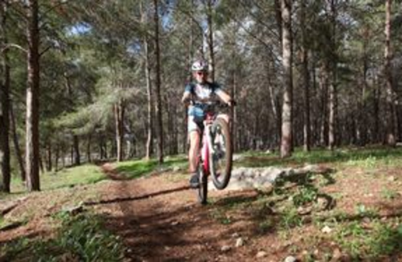 Biker in Ben Shemen Forest 311 (photo credit: Yossi Zamir)
