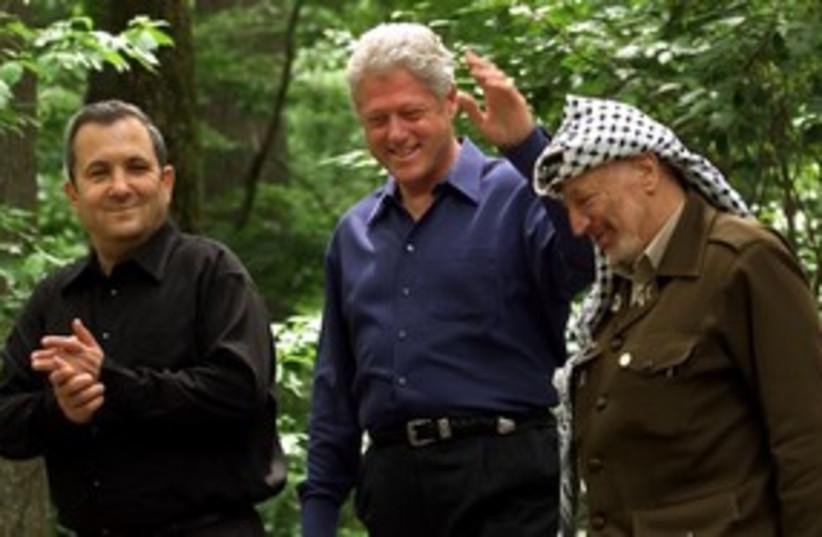 Clinton, Barak, Arafat at Camp David 311 (photo credit: REUTERS/Win McNamee)