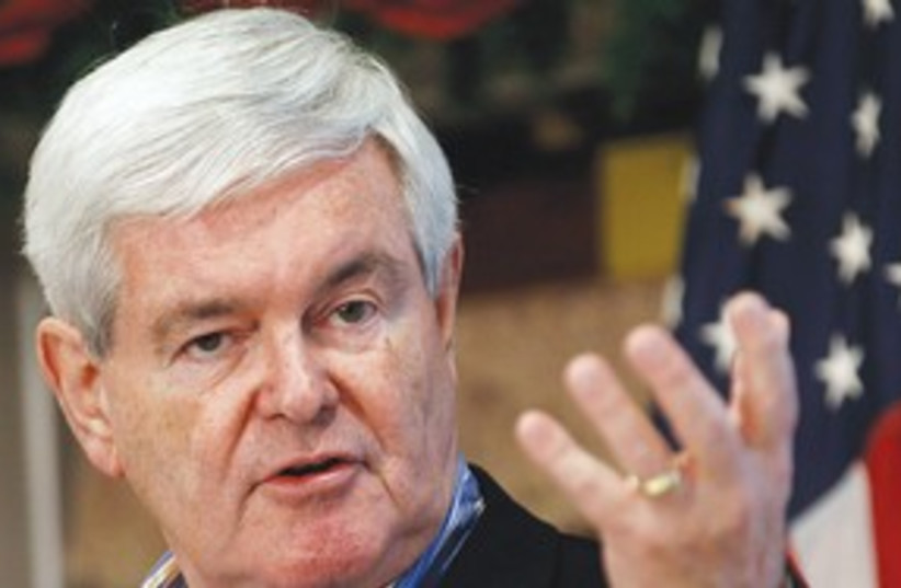 Newt Gingrich 311 (photo credit: REUTERS)