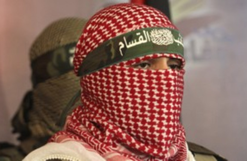 A member of the Kassam Brigades (photo credit: REUTERS/Ismail Zaydah)