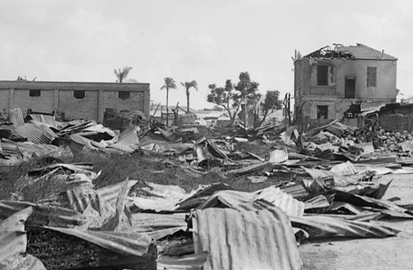 Jewish lumberyard in Jaffa burned down