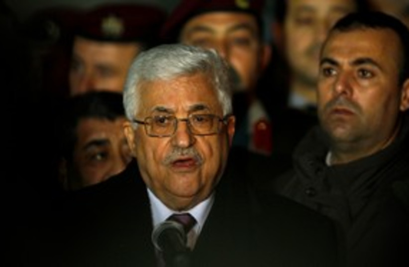 Palestinian Authority President Mahmoud Abbas 311 (R) (photo credit: REUTERS/Mohamad Torokman)