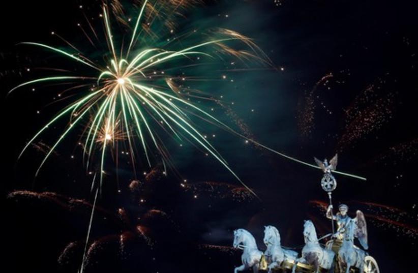 New Year 2012 celebration (photo credit: REUTERS)
