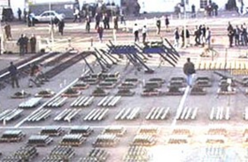 Display of weapons from Karine A  (photo credit: Courtesy WikiCommons)