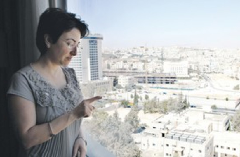 MK ZOABI speaks to reporters in Amman, Jordan 311 (R) (photo credit: REUTERS)
