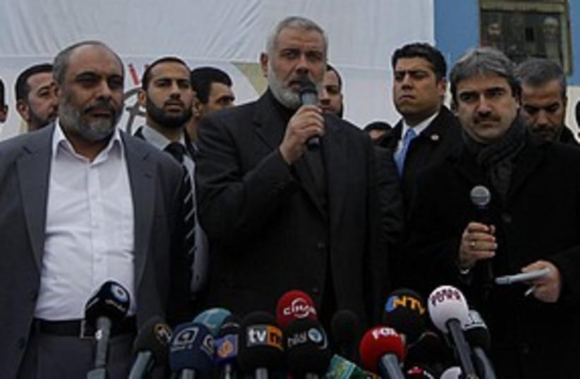 Haniyeh Mavi Marmara 311 R (photo credit: REUTERS/Osman Orsal )