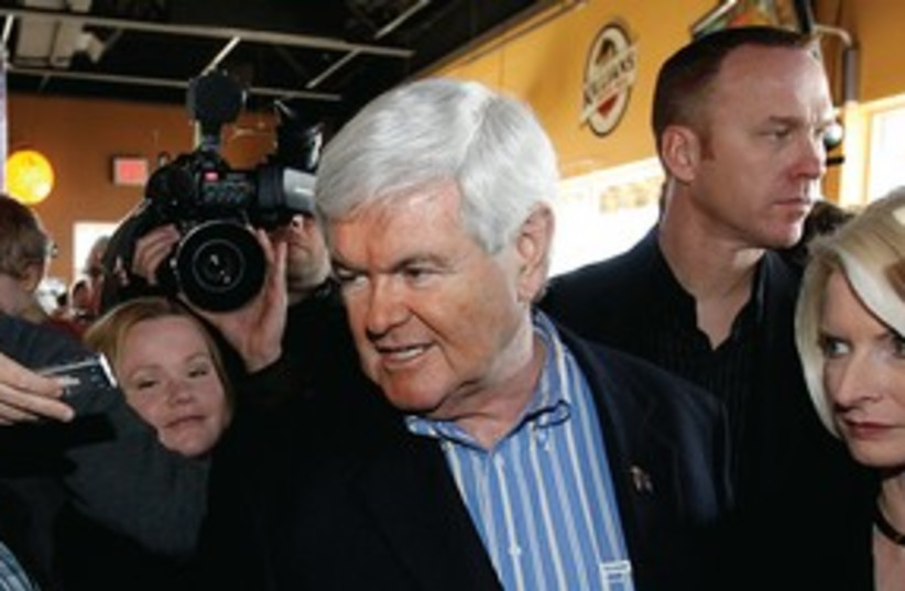 Newt Gingrich campaigns in Iowa_311 (photo credit: Reuters)