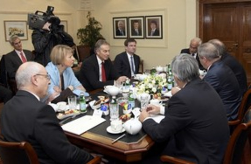 Amman talks with Blair_311 (photo credit: Reuters)