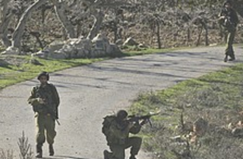 Troops Hebron attack 224 (photo credit: AP)