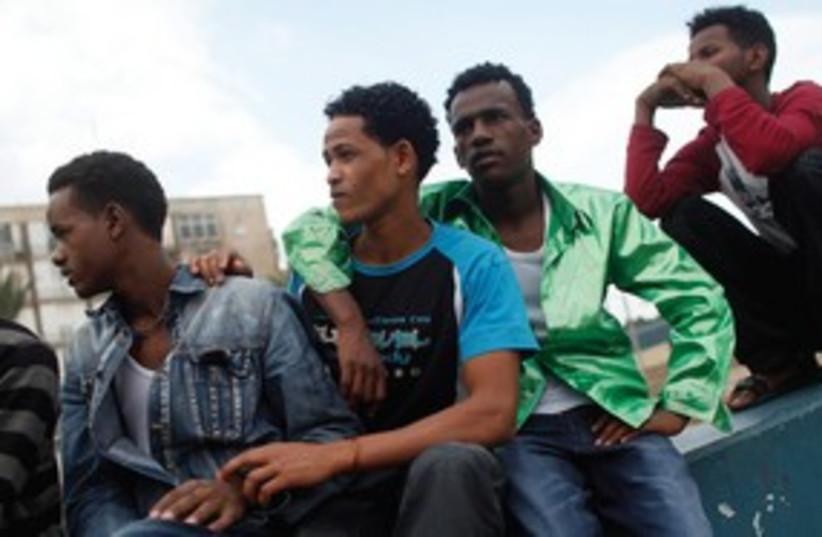 african migrants in tel aviv black 311 R (photo credit: REUTERS)