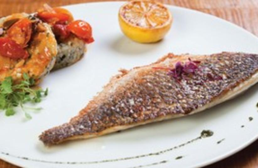 Fish dish at Italkia Ba'Tahana (photo credit: Courtesy)